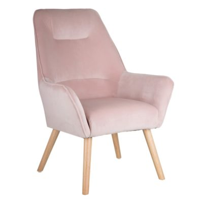 sillon en color rosa palo