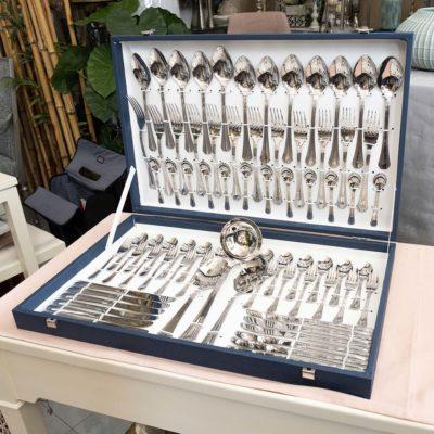 cuberteria de 75 piezas de acero malmaison